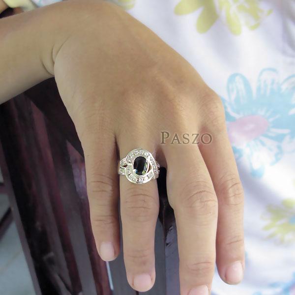 แหวนนิล นิลแท้ อัญมณีสีดำ #5