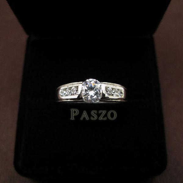 แหวนเพชร แหวนเงินฝังเพชร แหวนเงินแท้ #2