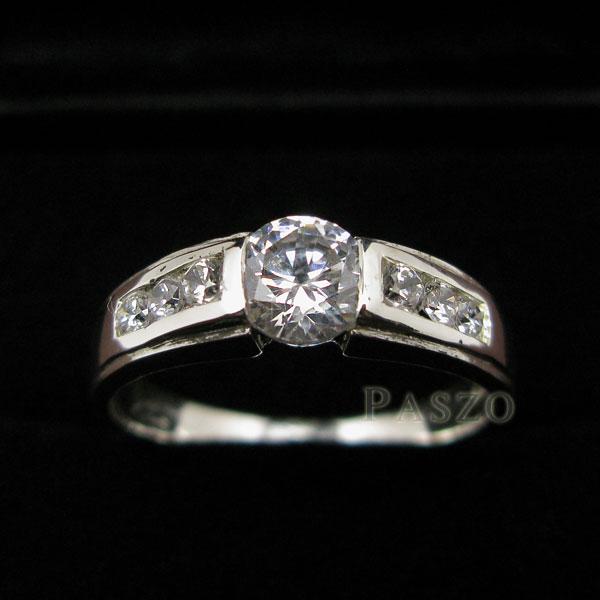 แหวนเพชร แหวนเงินฝังเพชร แหวนเงินแท้ #3