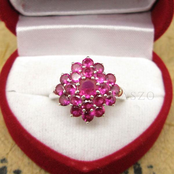แหวนพลอยทับทิม แหวนพลอยสีแดง พลอยหลายเม็ด #2