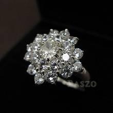 แหวนเพชร แหวนเงินฝังเพชร แหวนรุ่นใหญ่