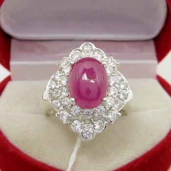 แหวนเงิน แหวนกินบ่อเซี่ยง ทับทิม #2
