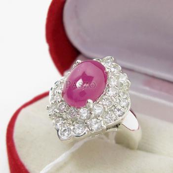 แหวนเงิน แหวนกินบ่อเซี่ยง ทับทิม #3