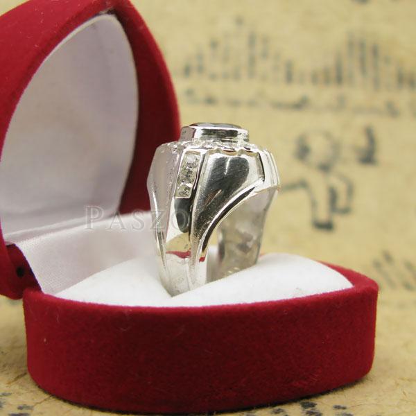 แหวนผู้ชาย ฝังนิล ล้อมรอบด้วยเพชร #5