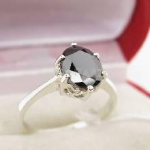 แหวนนิล แหวนพลอยเม็ดเดี่ยว แหวนผู้หญิง แหวนเงินแท้