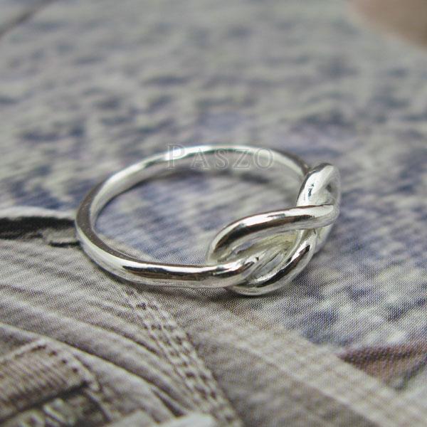 แหวนแห่งรักนิรันดร์ แหวนเงินแท้ แหวนอินฟินิตี้ #6