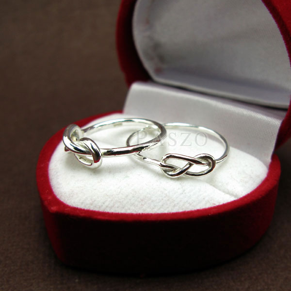 ชุดแหวนคู่รัก แหวนเงินคู่ แหวนแห่งรักนิรันด์ #6