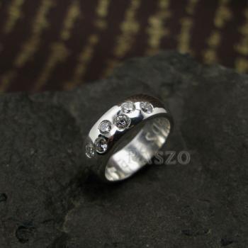 แหวนเพชร แหวนเกลี้ยง 6เม็ด #3