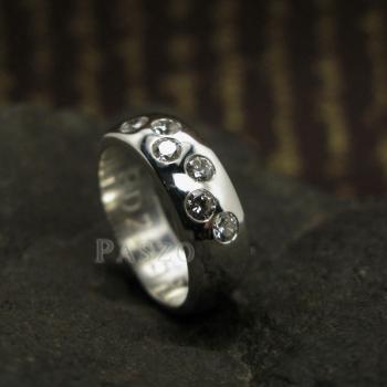 แหวนเพชร แหวนเกลี้ยง 6เม็ด #5