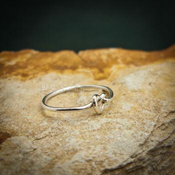 แหวนเงิน รูปหัวใจ แหวนเงินแท้ #3