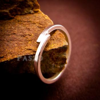 แหวนเงินเกลี้ยง แบบเรียบง่าย แหวนเงินแท้ #2