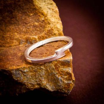แหวนเงินเกลี้ยง แบบเรียบง่าย แหวนเงินแท้ #4