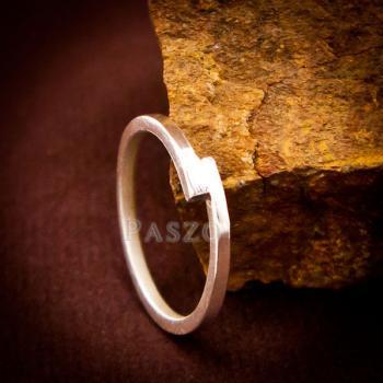 แหวนเงินเกลี้ยง แบบเรียบง่าย แหวนเงินแท้ #5