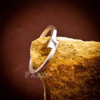 แหวนเงินเกลี้ยง แบบเรียบง่าย แหวนเงินแท้ #6