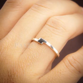 แหวนเงินเกลี้ยง แบบเรียบง่าย แหวนเงินแท้ #7