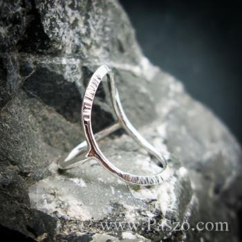 แหวนเงิน ดีไซน์นำแฟชั่น แหวนเงินแท้ #2