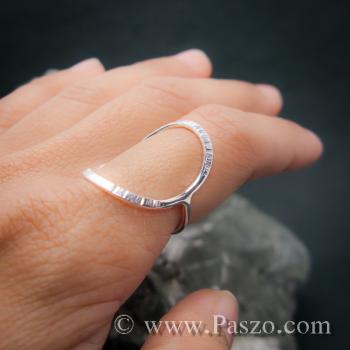 แหวนเงิน ดีไซน์นำแฟชั่น แหวนเงินแท้ #5