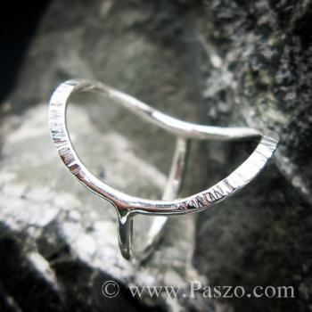 แหวนเงิน ดีไซน์นำแฟชั่น แหวนเงินแท้ #8