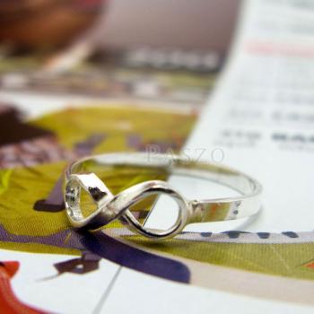 แหวนอินฟินิตี้ แหวนเงินแท้ 925 #2