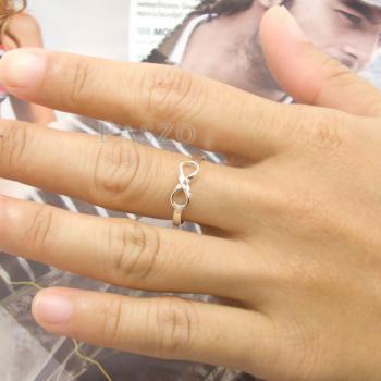 แหวนอินฟินิตี้ แหวนเงินแท้ 925 #6