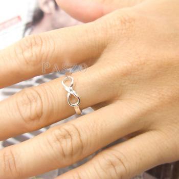 แหวนอินฟินิตี้ แหวนเงินแท้ 925 #7