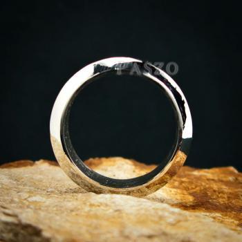 แหวนตะไบขอบเฉียง หน้ากว้าง8มิล แหวนเงินแท้ #4