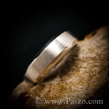 แหวนตะไบขอบเฉียง หน้ากว้าง8มิล ตรงกลางปัดด้าน #4