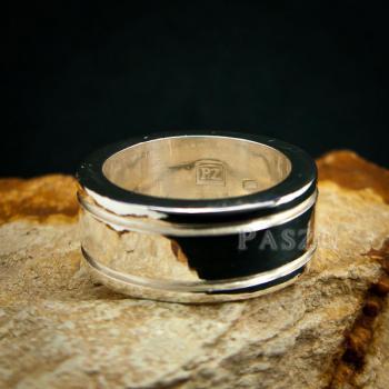 แหวนเซาะร่อง หน้ากว้าง10มิล แหวนเงินแท้ #2