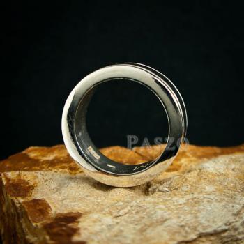 แหวนเซาะร่อง หน้ากว้าง10มิล แหวนเงินแท้ #4