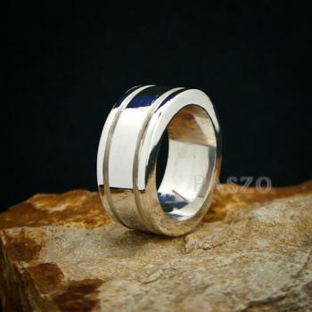 แหวนเซาะร่อง หน้ากว้าง10มิล แหวนเงินแท้ #5