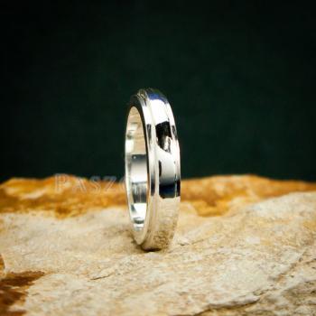 แหวนขอบลดระดับ หน้ากว้าง4มิล แหวนเงินแท้ #3