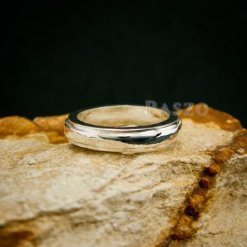 แหวนขอบลดระดับ หน้ากว้าง4มิล แหวนเงินแท้ #5
