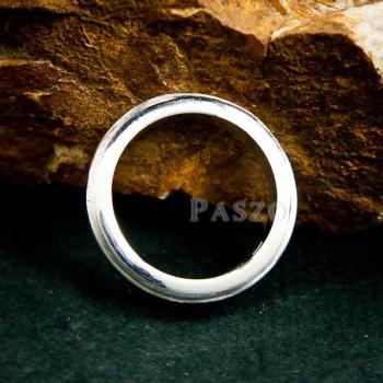 แหวนขอบลดระดับ หน้ากว้าง4มิล แหวนเงินแท้ #6