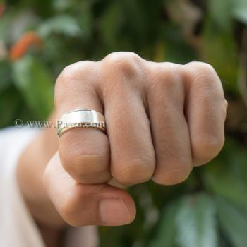 แหวนเกลี้ยง แหวนลดระดับขอบ หน้ากว้าง8มิล #3
