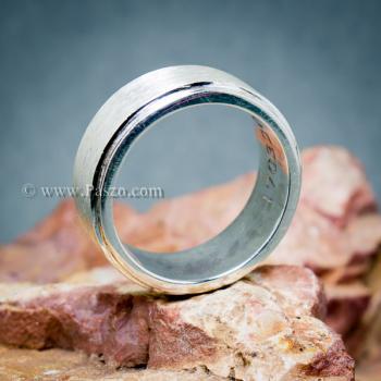 แหวนเกลี้ยง แหวนลดระดับขอบ หน้ากว้าง8มิล #6