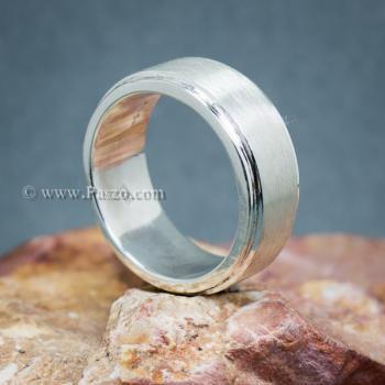 แหวนเกลี้ยง แหวนลดระดับขอบ หน้ากว้าง8มิล #2