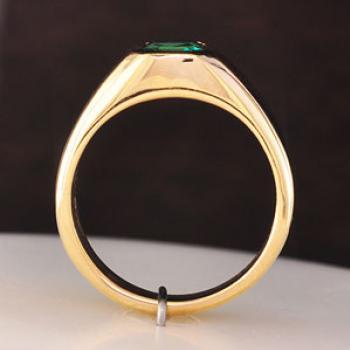 แหวนพลอยโมรา พลอยสี่เหลี่ยม แหวนผู้ชายทองแท้ #2