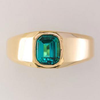 แหวนพลอยโมรา พลอยสี่เหลี่ยม แหวนผู้ชายทองแท้ #3
