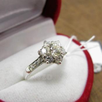 แหวนเพชร แหวนดอกพิกุล แหวนเงินฝังเพชร #2