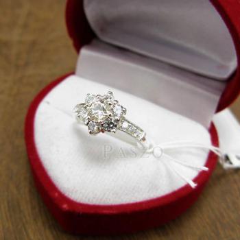 แหวนเพชร แหวนดอกพิกุล แหวนเงินฝังเพชร #3