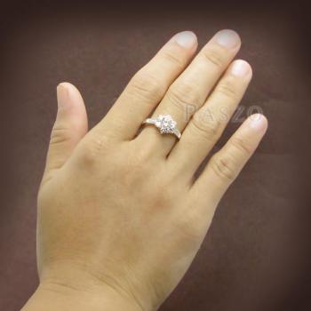 แหวนเพชร แหวนดอกพิกุล แหวนเงินฝังเพชร #5