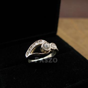 แหวนเพชร แหวนรูปดวงตา แหวนเงินฝังเพชร #2