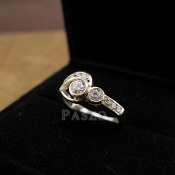 แหวนเพชร แหวนรูปดวงตา แหวนเงินฝังเพชร #3