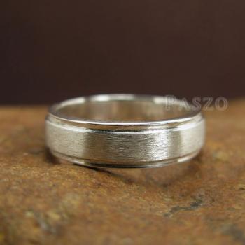 แหวนลดระดับขอบ หน้ากว้าง6มิล ตรงกลางปัดด้าน #3