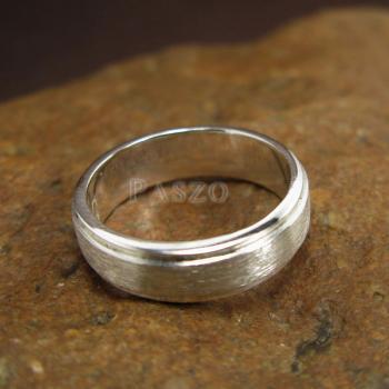 แหวนลดระดับขอบ หน้ากว้าง6มิล ตรงกลางปัดด้าน #4
