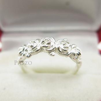แหวนกุหลาบ แหวนมงกุฏดอกกุหลาบ แหวนเงินแท้ #2