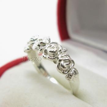 แหวนกุหลาบ แหวนมงกุฏดอกกุหลาบ แหวนเงินแท้ #3