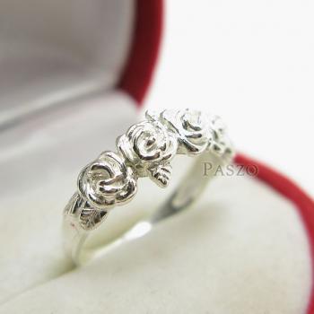 แหวนกุหลาบ แหวนมงกุฏดอกกุหลาบ แหวนเงินแท้ #4