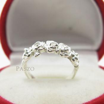 แหวนกุหลาบ แหวนมงกุฏดอกกุหลาบ แหวนเงินแท้ #5
