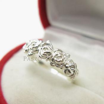 แหวนกุหลาบ แหวนมงกุฏดอกกุหลาบ แหวนเงินแท้ #6